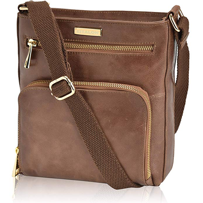 Review of Leather Crossbody Purses and Handbags for Women-Premium Crossover Bag Over the Shoulder Womens