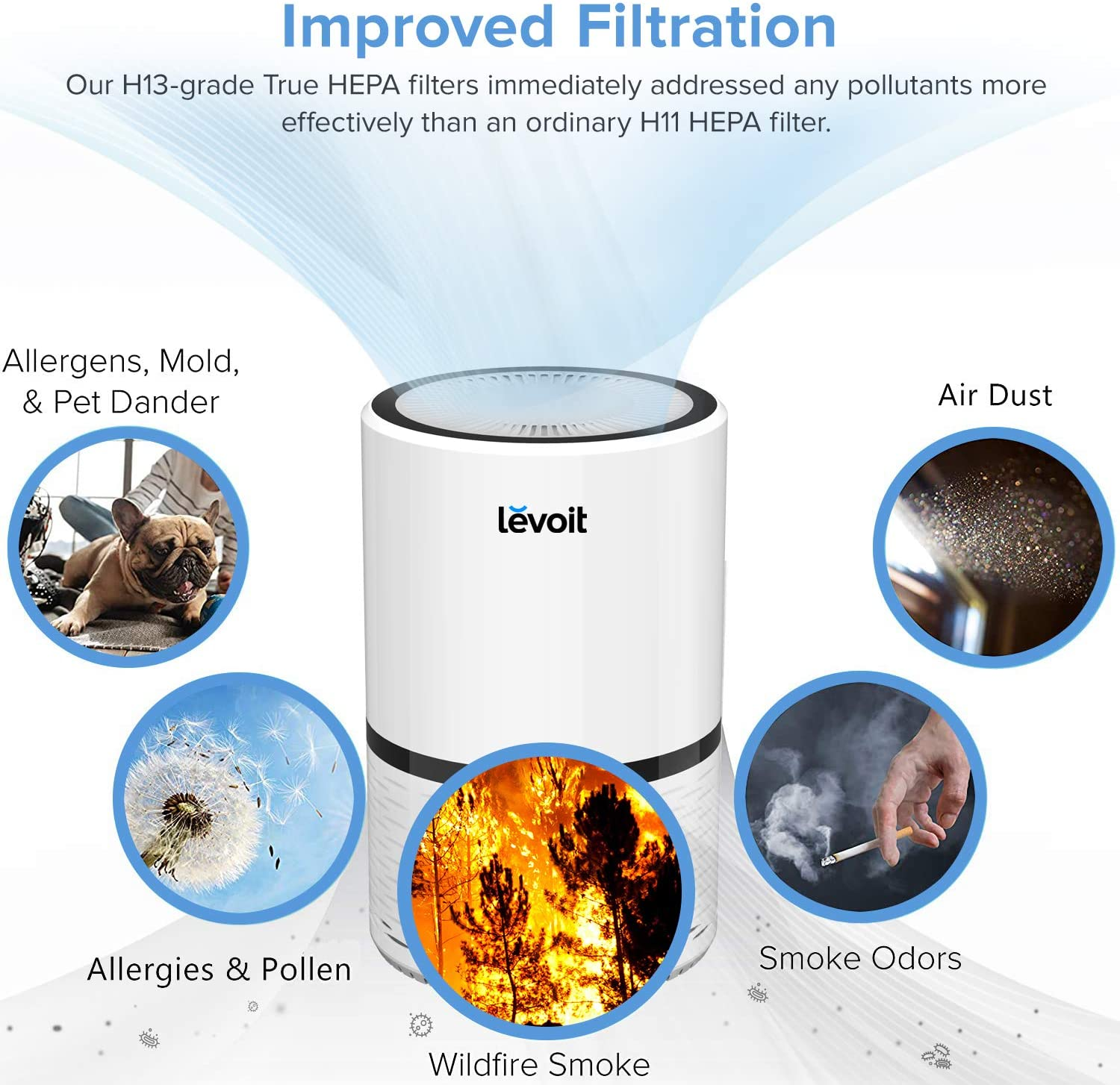 Review of - LEVOIT LV-H132 Air Purifier with True Hepa Filter, Odor Allergies Eliminator