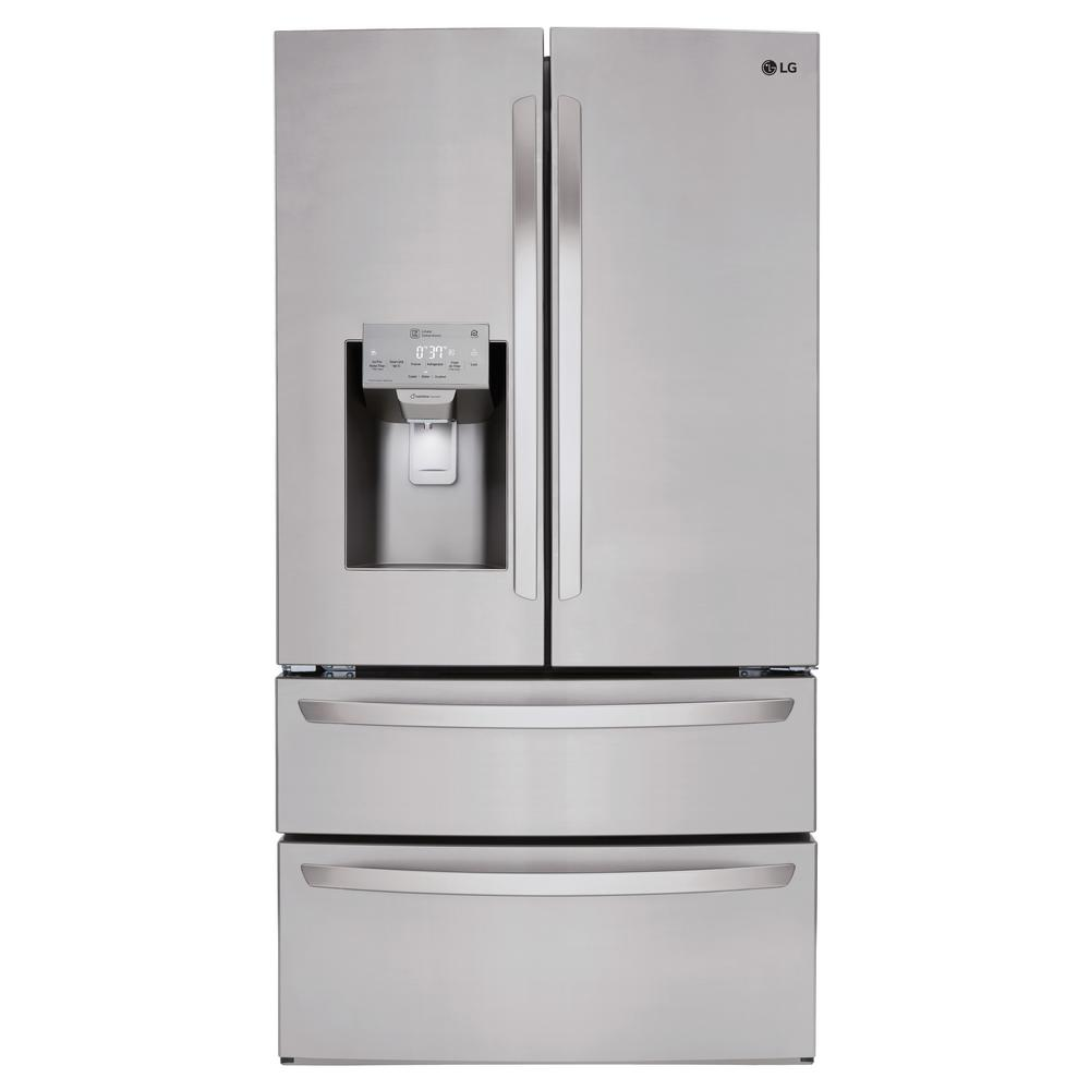 LG Electronics 27.8 cu. ft. French Door Smart Refrigerator with Wi-Fi Enabled in Stainless Steel