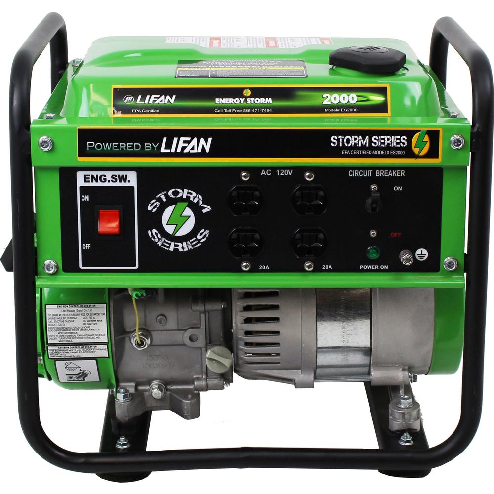 Review of LIFAN Energy Storm 1,600/1,400-Watt Gasoline Powered 98cc 3 MHP Portable Generator
