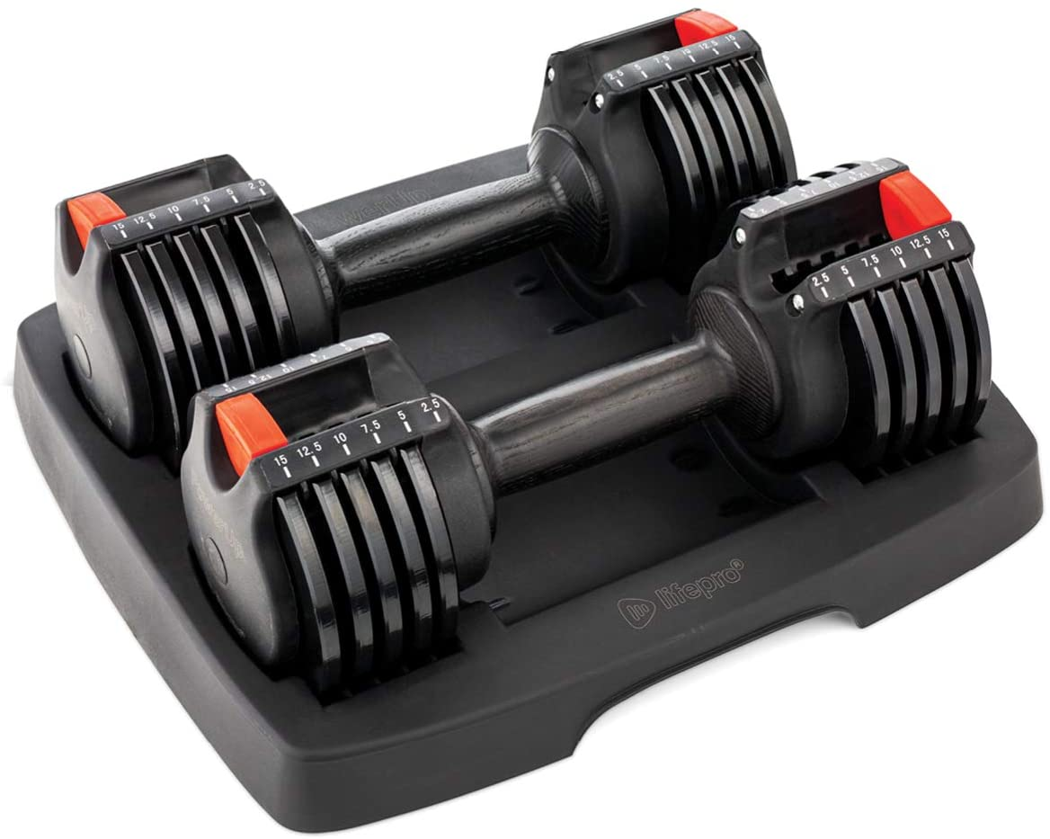 Review of LifePro PowerUp Adjustable Weights Dumbbells Set