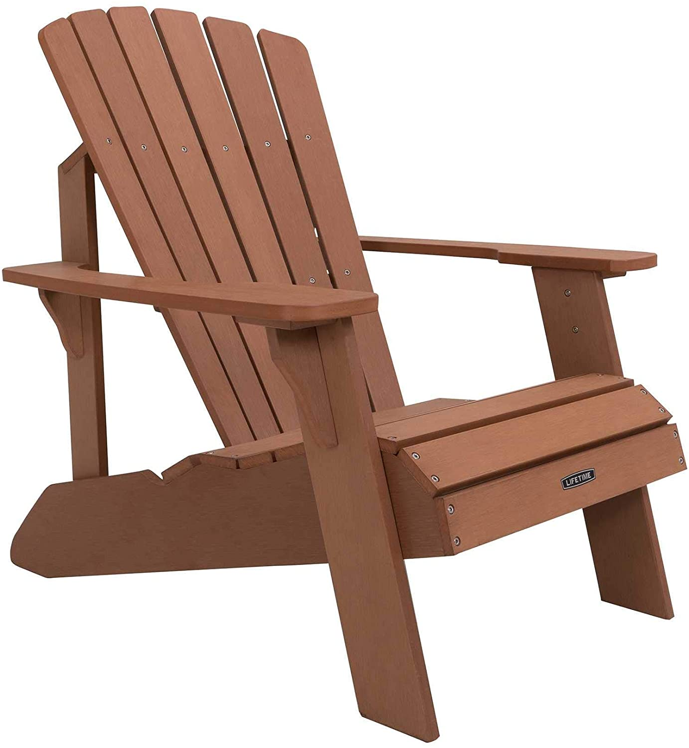 Review of Lifetime Faux Wood Adirondack Chair, Brown - 60064