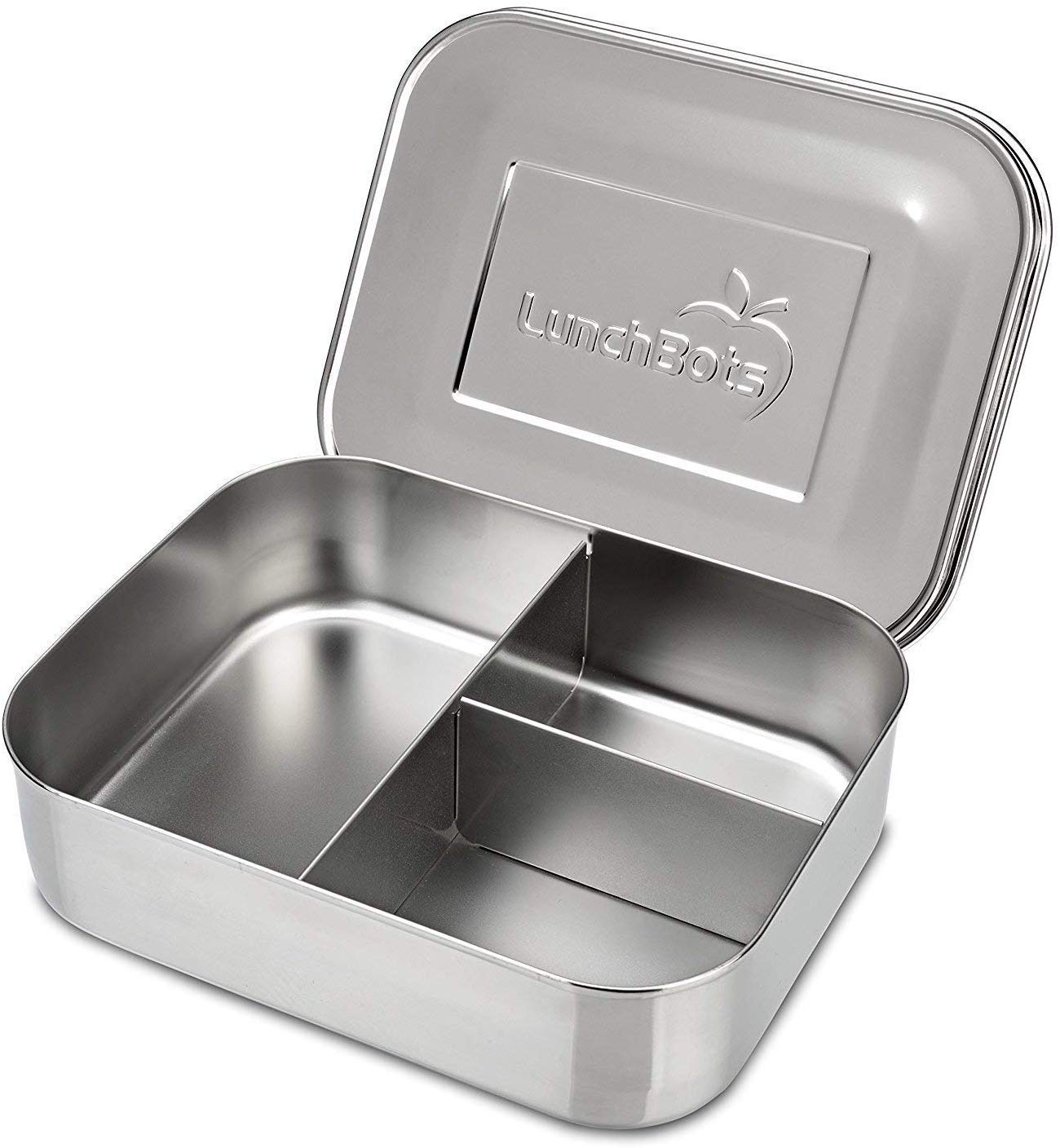 Review of LunchBots Medium Trio II Divided Stainless Steel Food Container