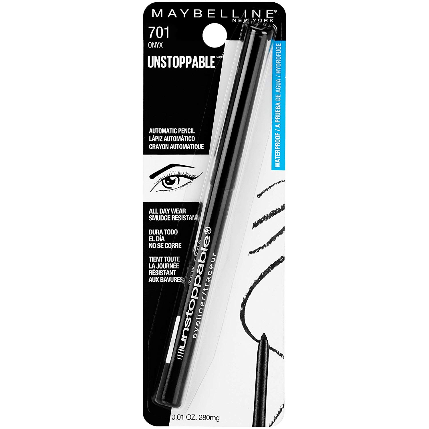 Review of Maybelline Unstoppable Eyeliner, Onyx, 0.01 oz.