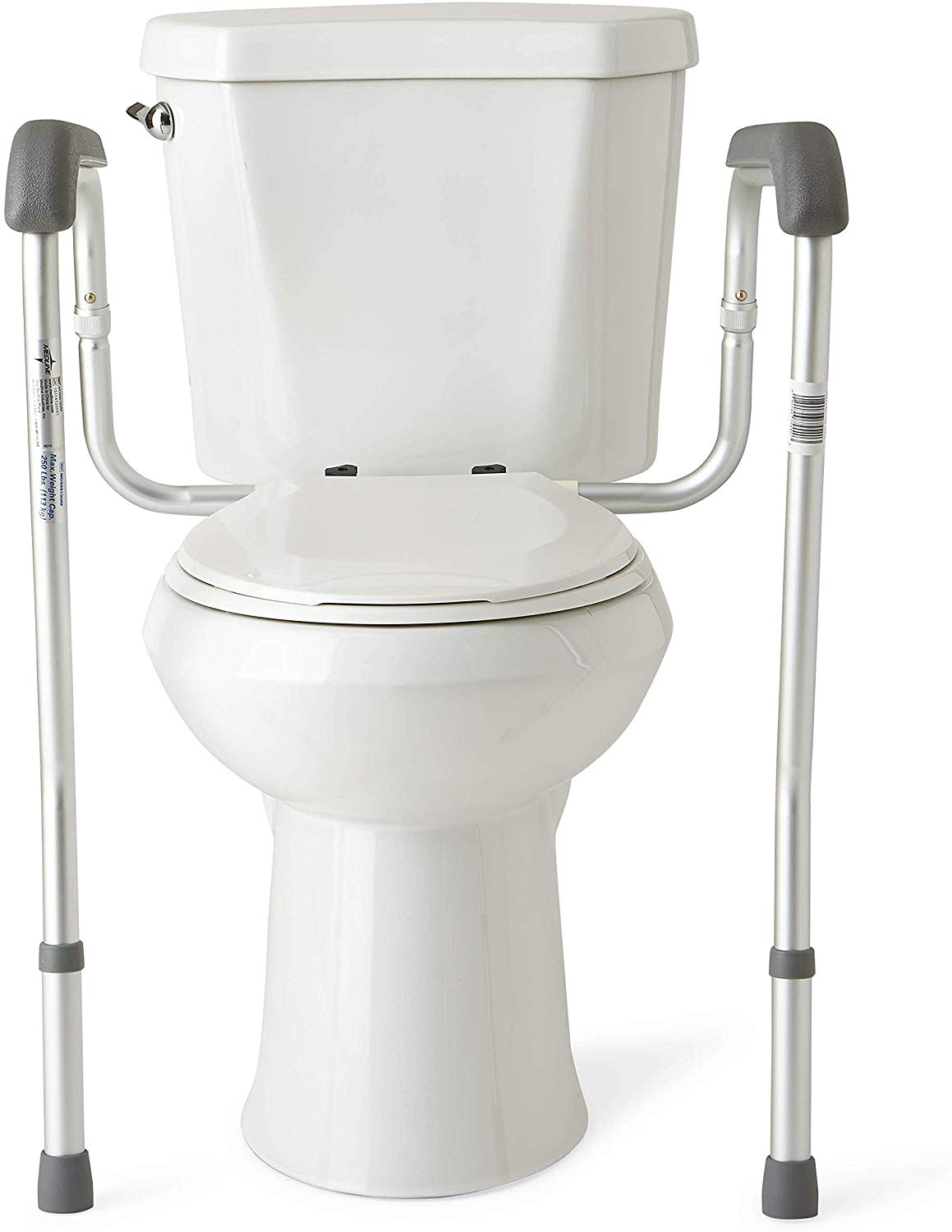 Medline Toilet Safety Rails, Height Adjustable Legs