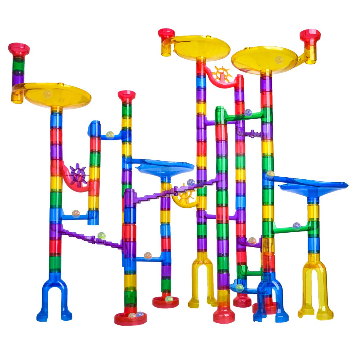 Meland Marble Run - 122Pcs Marble Maze Game Building Toy for Kids
