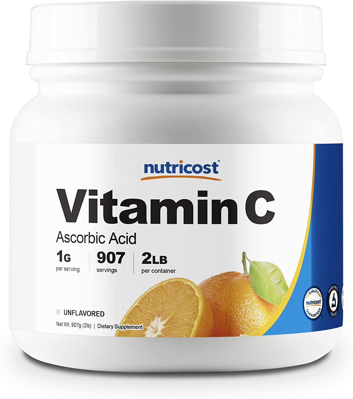 Review of Nutricost Pure Ascorbic Acid Powder (Vitamin C) 2 LBS - High Quality, Gluten Free, Non-GMO