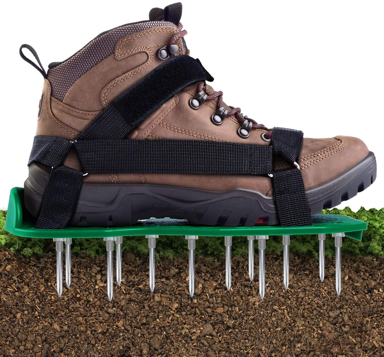 Review of Ohuhu Lawn Aerator Shoes with Hook & Loop Straps