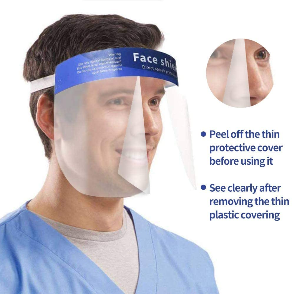 Review of OMK 2 Pcs Reusable Face Shields