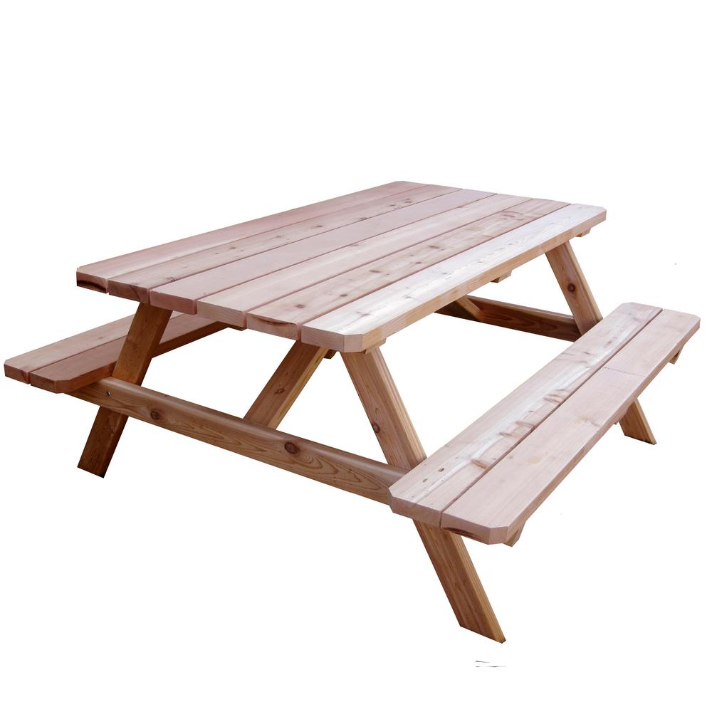 Review of Outdoor Living Today 64-3/4 in. x 66 in. Patio Picnic Table