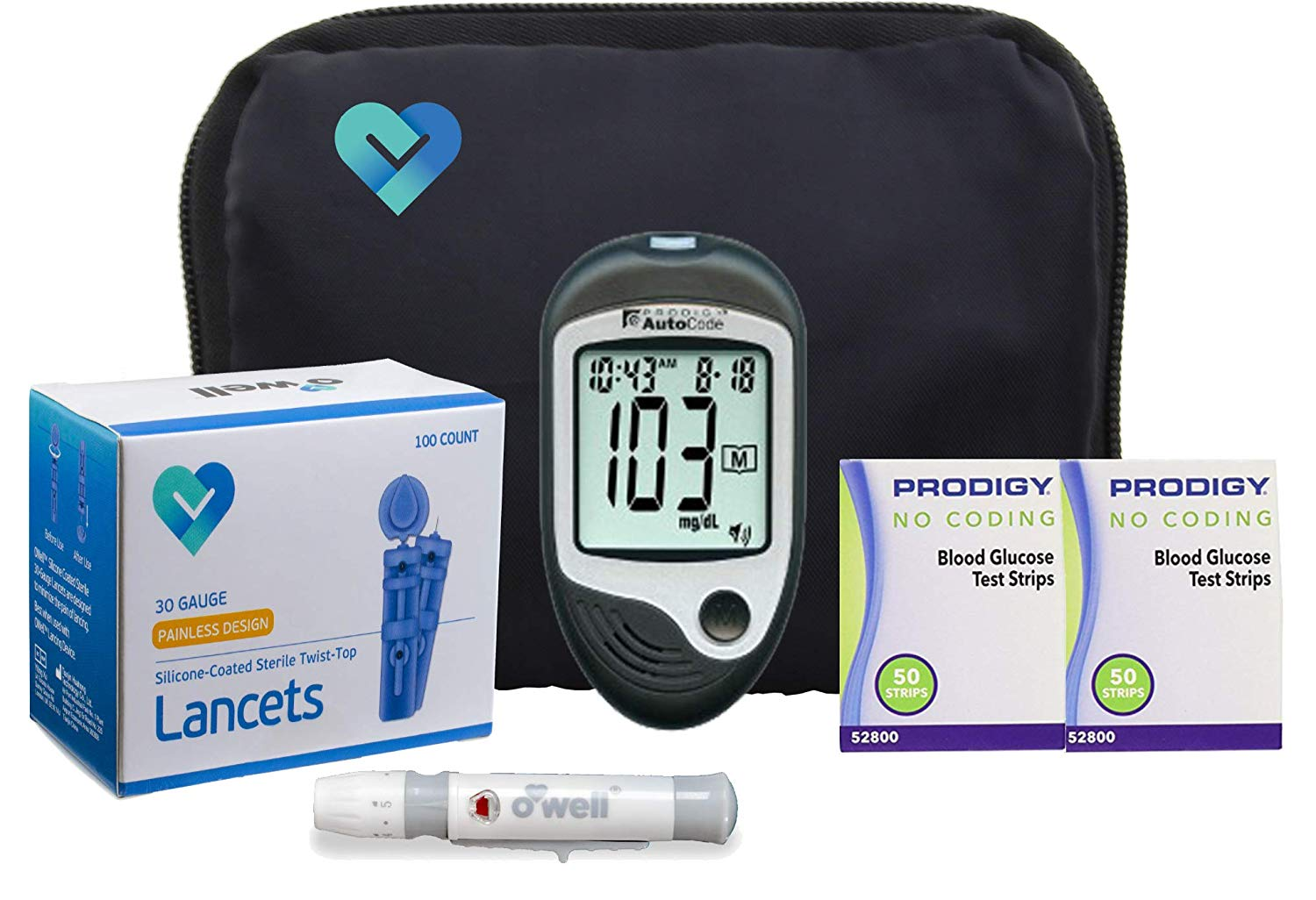 Review of O'WELL Diabetes Testing Kit + 100 Test Strips