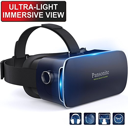 Review of Pansonite 3D VR Glasses Virtual Reality Headset for Games & 3D Movies, Upgraded & Lightweight