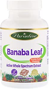 Review of Paradise Herbs Banaba Leaf 1.5% Corosolic Acid Vegetarian Capsules, 180 Count