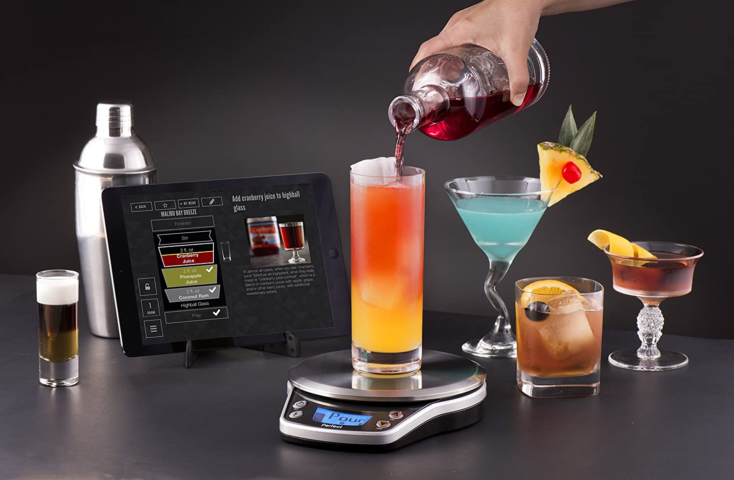 Review of Perfect Drink Pro Smart Scale and App Kitchen Tool, Black