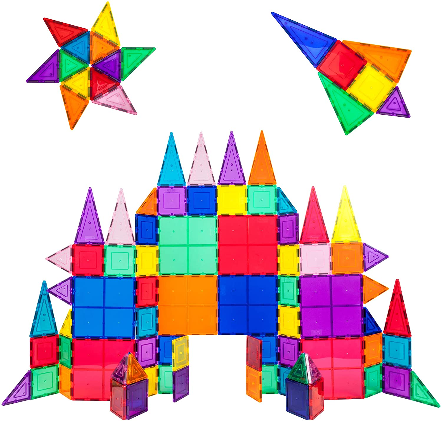 Review of PicassoTiles 100 Piece Set - Magnetic 3D Building Blocks Construction Playboards