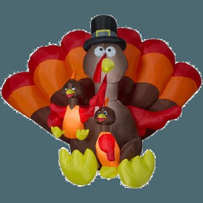 Gemmy 8.5 ft. Inflatable Turkey Family Scene