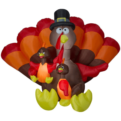 Gemmy 8.5 ft. Inflatable Turkey Family Scene