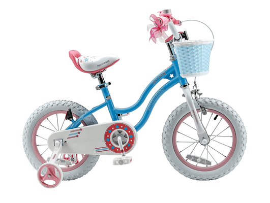 RoyalBaby Stargirl Girl's Bike (12-14-16 Inch, Blue / Pink)