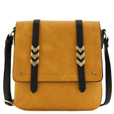 Double Compartment Large Flapover Crossbody Bag by Alyssa