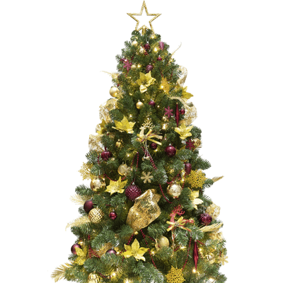 KI Store Artificial Christmas Tree with Decoration Ornaments