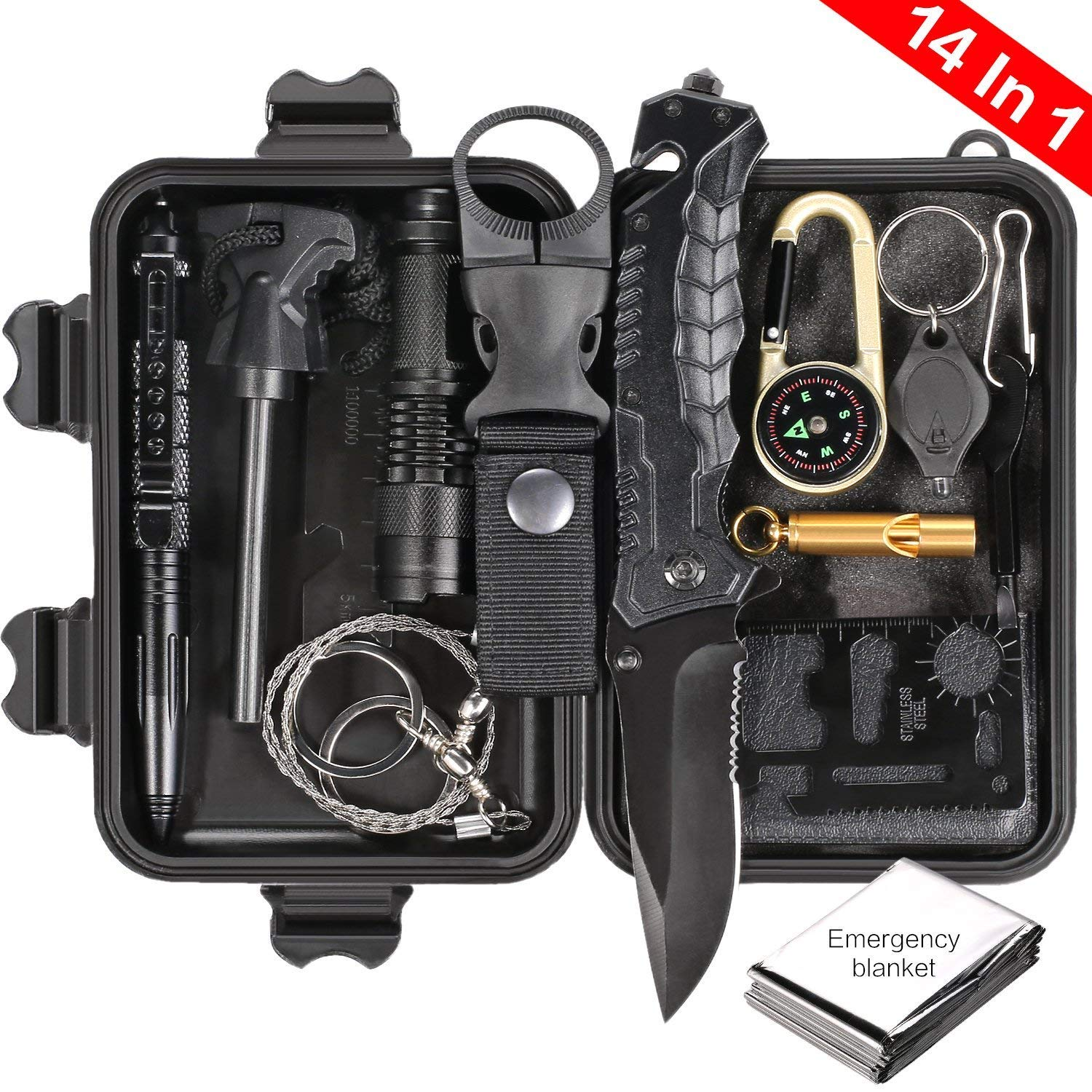 Review of Puhibuox Survival Gear Kit, EDC Outdoor Emergency Tactical Survival Tool for Cars, Camping, Hiking, Hunting, Adventure Accessories
