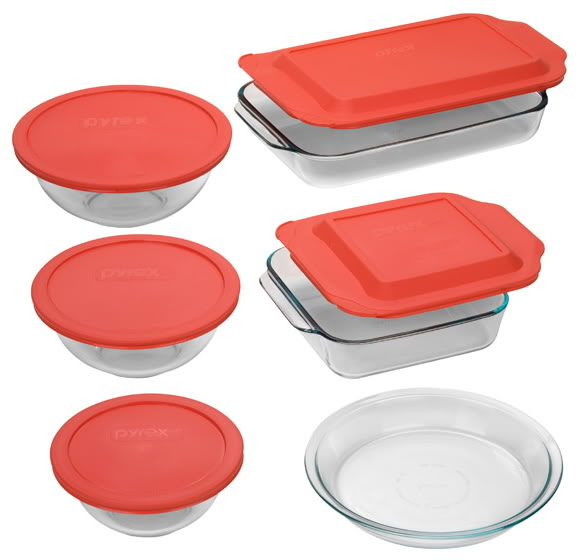 Pyrex Easy Grab 11-Piece Bake-and-Store Set - Reviews of 10 Most Popular Luggage Sets and Bags - Travel in Style