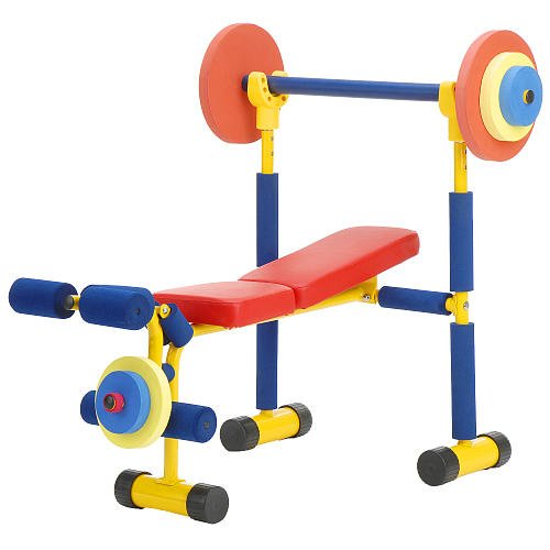 Review of Redmon Fun and Fitness Exercise Equipment for Kids - Weight Bench Set