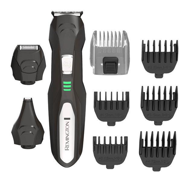 Remington Lithium All-In-One Men's Grooming Kit, Black/Silver, PG6027