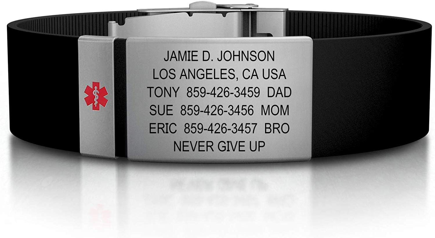 Review of Road ID Medical Alert Bracelet - Official ID Wristband with Medical Alert Badge - Silicone Clasp