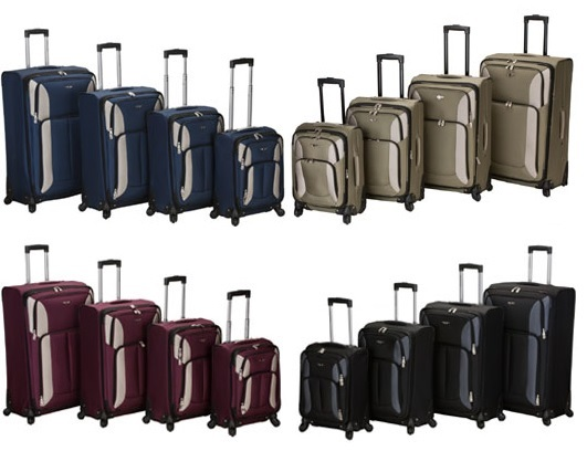 Rockland Luggage Impact Spinner Four-Piece Luggage Set - Reviews of 10 Most Popular Luggage Sets and Bags - Travel in Style