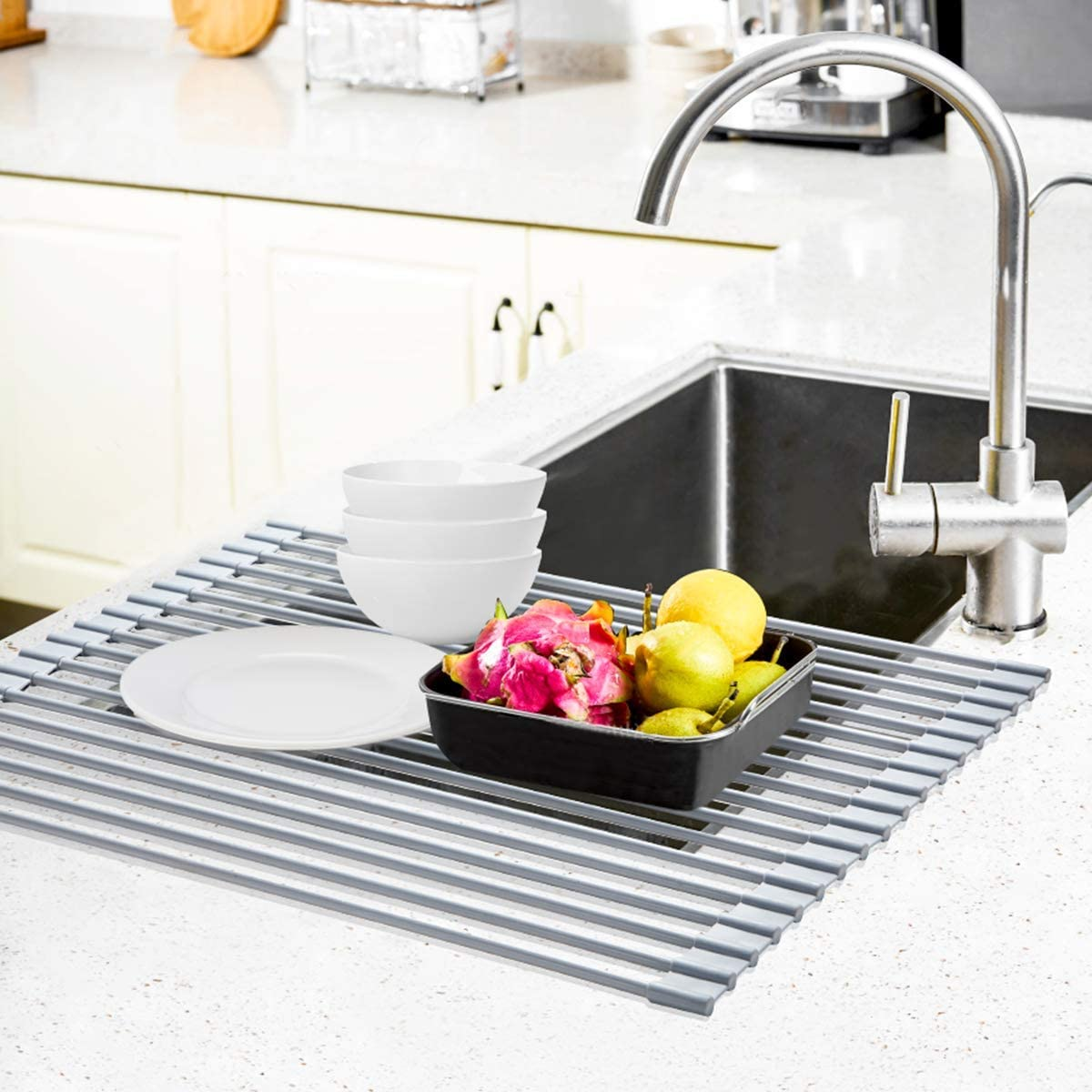 Review of Roll Up Dish Drying Rack, Ohuhu Large Dish Drying Rack, 17.6