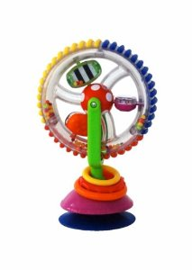 Review of Sassy Developmental Wonder Wheel Suction Toy