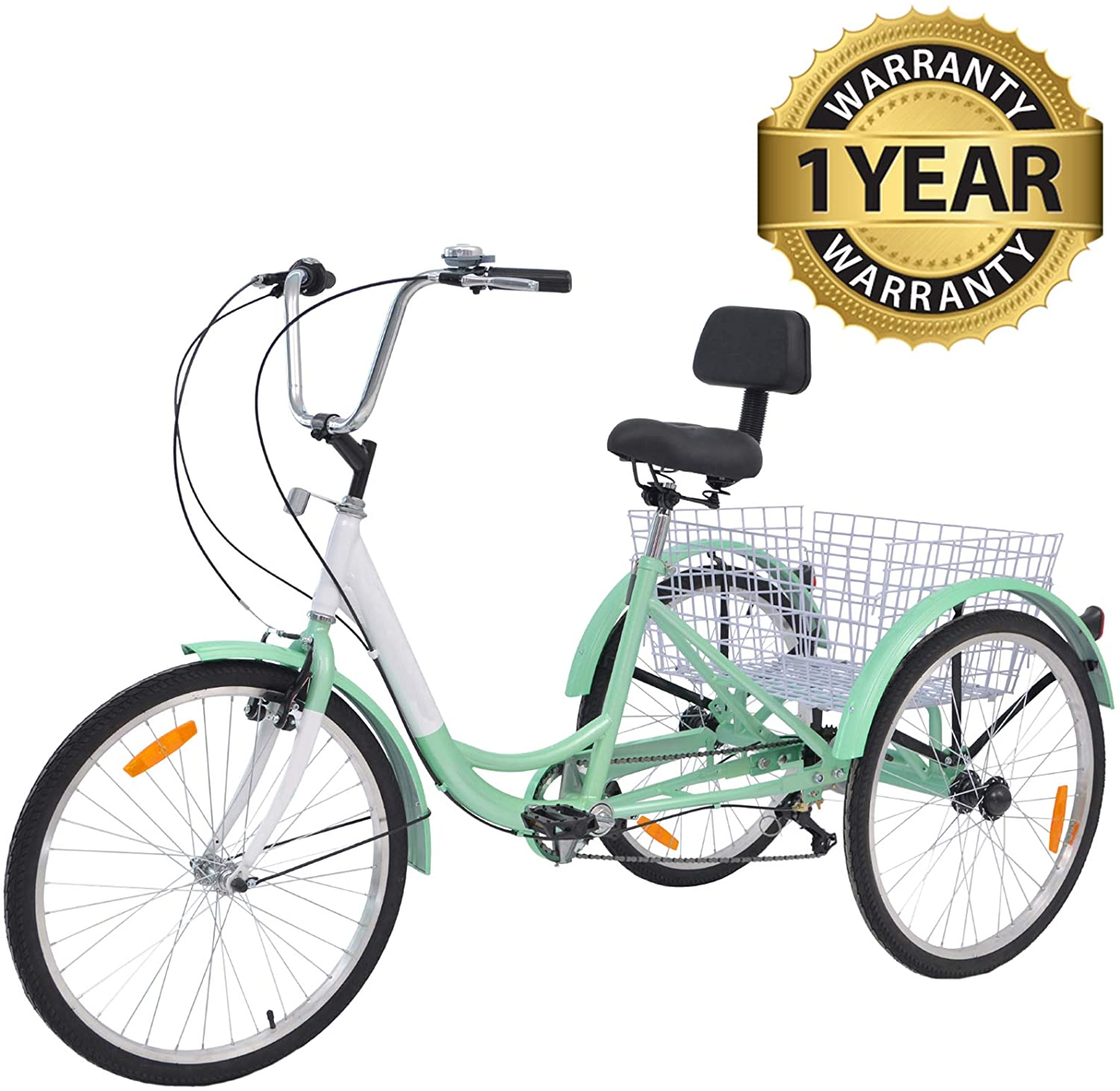 Review of Slsy Adult Tricycles 7 Speed, Adult Trikes 20/24 / 26 inch 3 Wheel Bikes