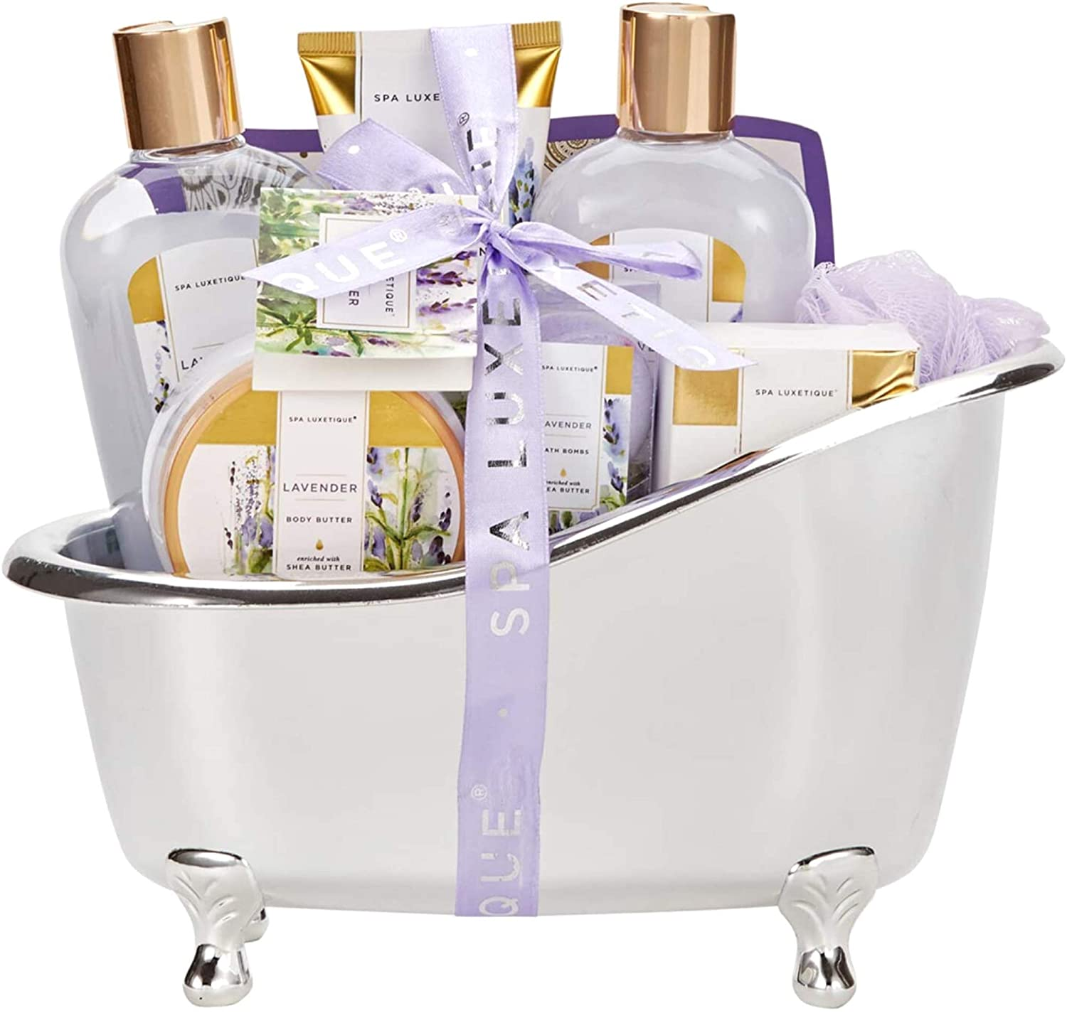 Review of Spa Luxetique Gift Baskets for Women, Lavender Bath Set