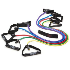 SPRI Xertube Resistance Band Exercise Cords with Door Attachment