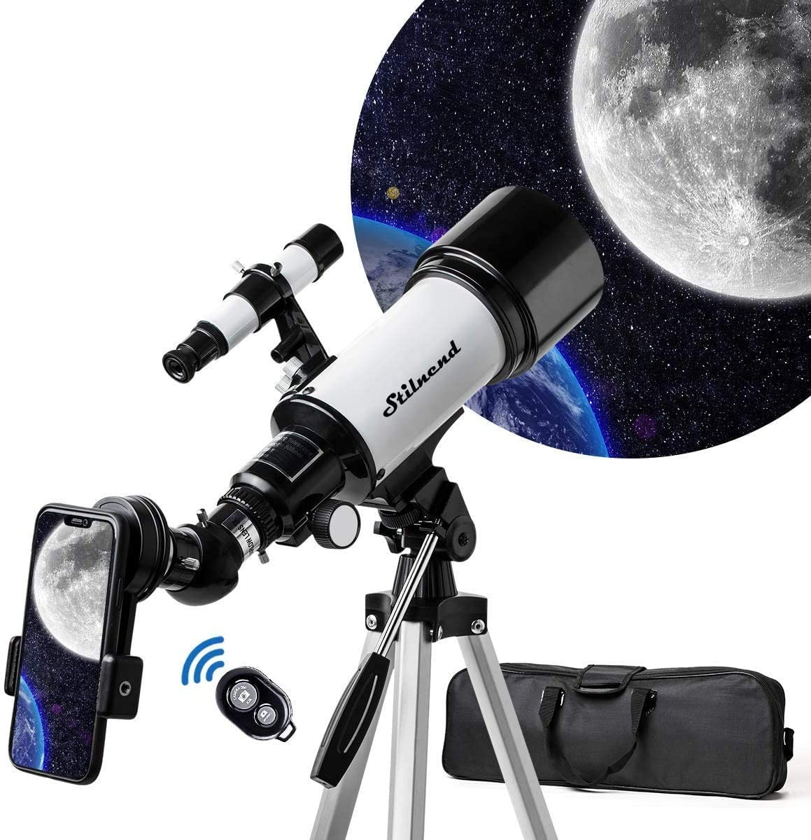 Review of Stilnend Telescope, 70mm Aperture, 500mm AZ Mount Astronomical, Refractor Telescope