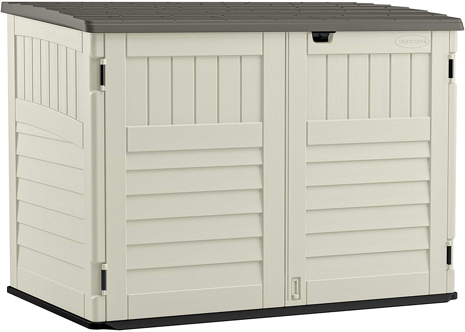 Review of Suncast 5' x 3' Horizontal Stow-Away Storage Shed - Natural Wood-like Outdoor Storage