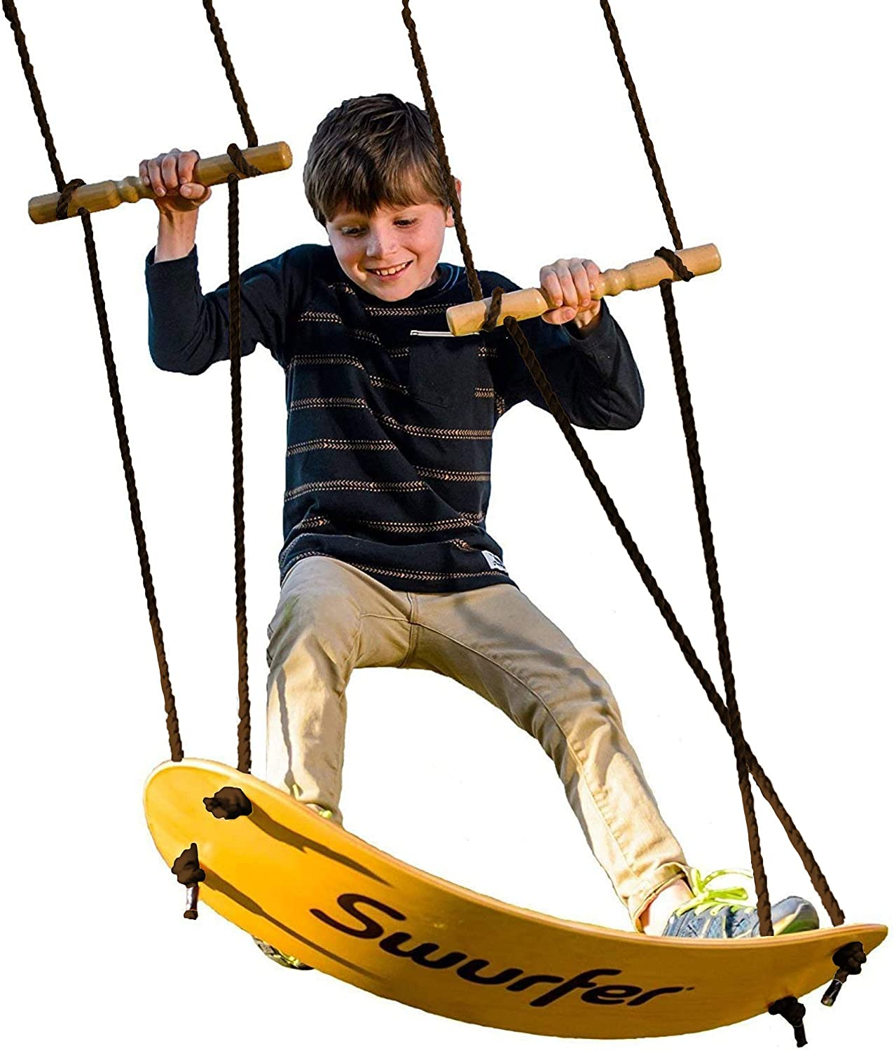 Review of Swurfer - the Original Stand Up Surfing Swing - Curved Maple Wood Board