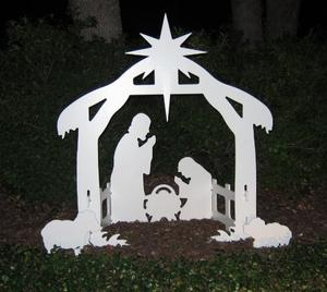Review of Teak Isle Christmas Outdoor Nativity Set, Yard Nativity Scene