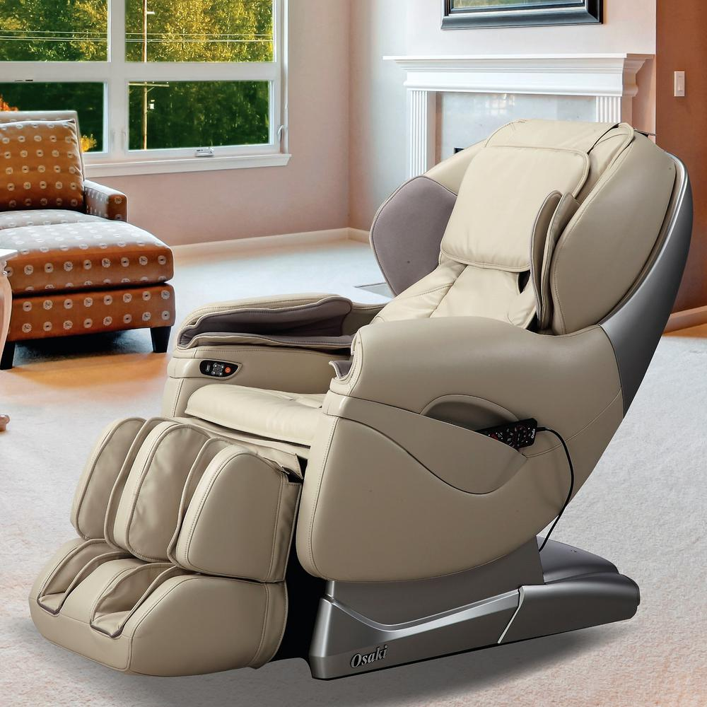 Review of TITAN Pro Series Tan Faux Leather Reclining Massage Chair