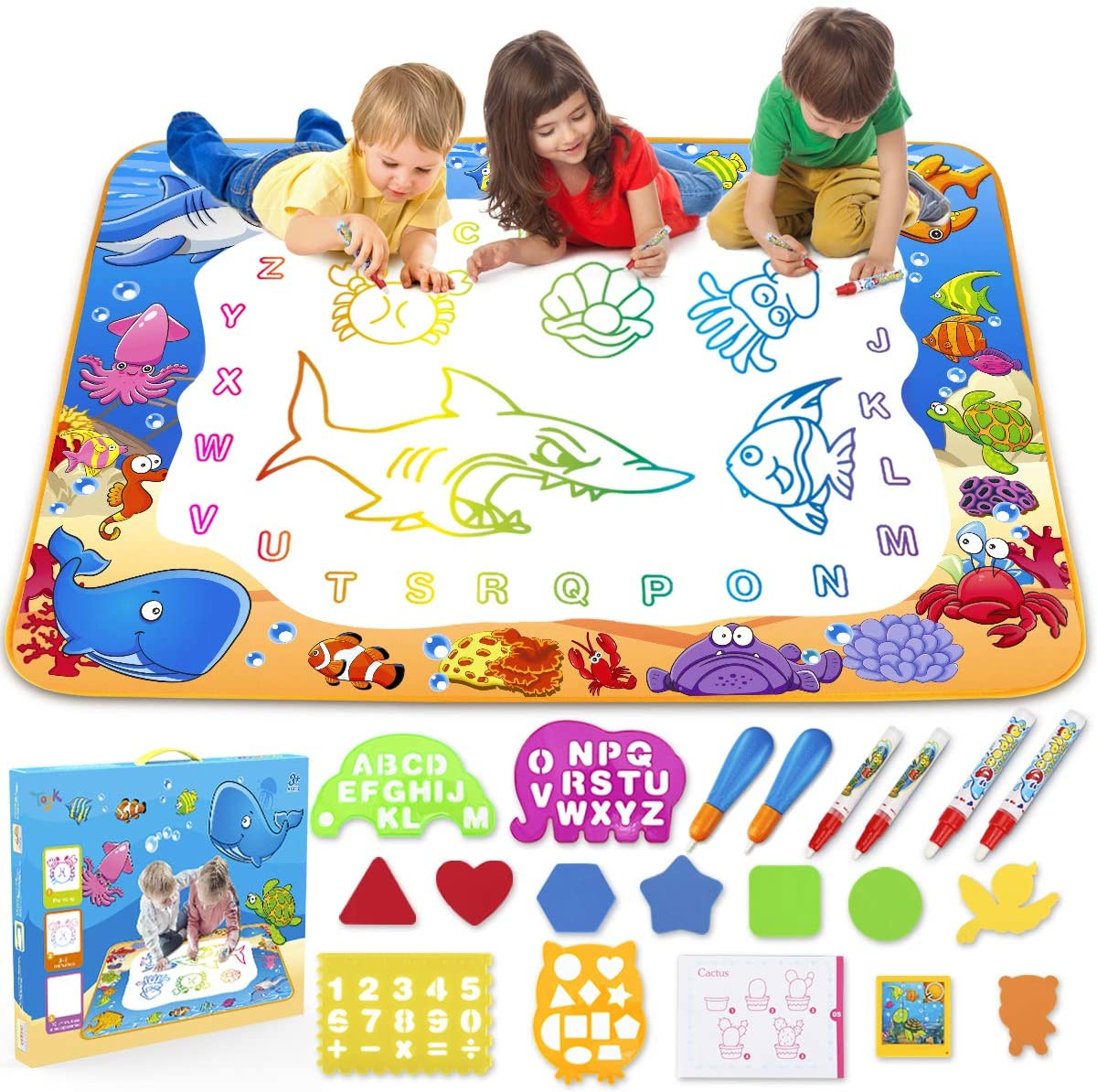 Review of Toyk Aqua Magic Mat - Kids Painting Writing Doodle Board Toy