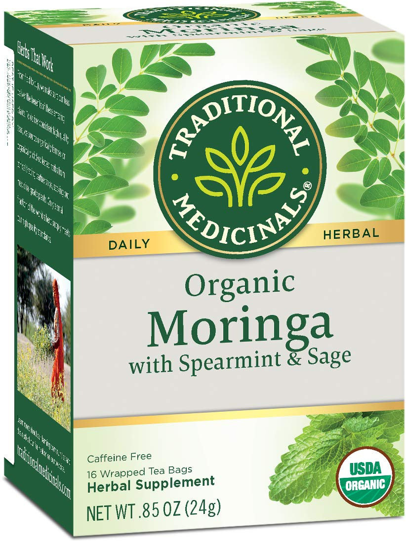 Review of Traditional Medicinals Organic Moringa with Spearmint & Sage Herbal Tea, 16 Tea Bags (pack of 6)