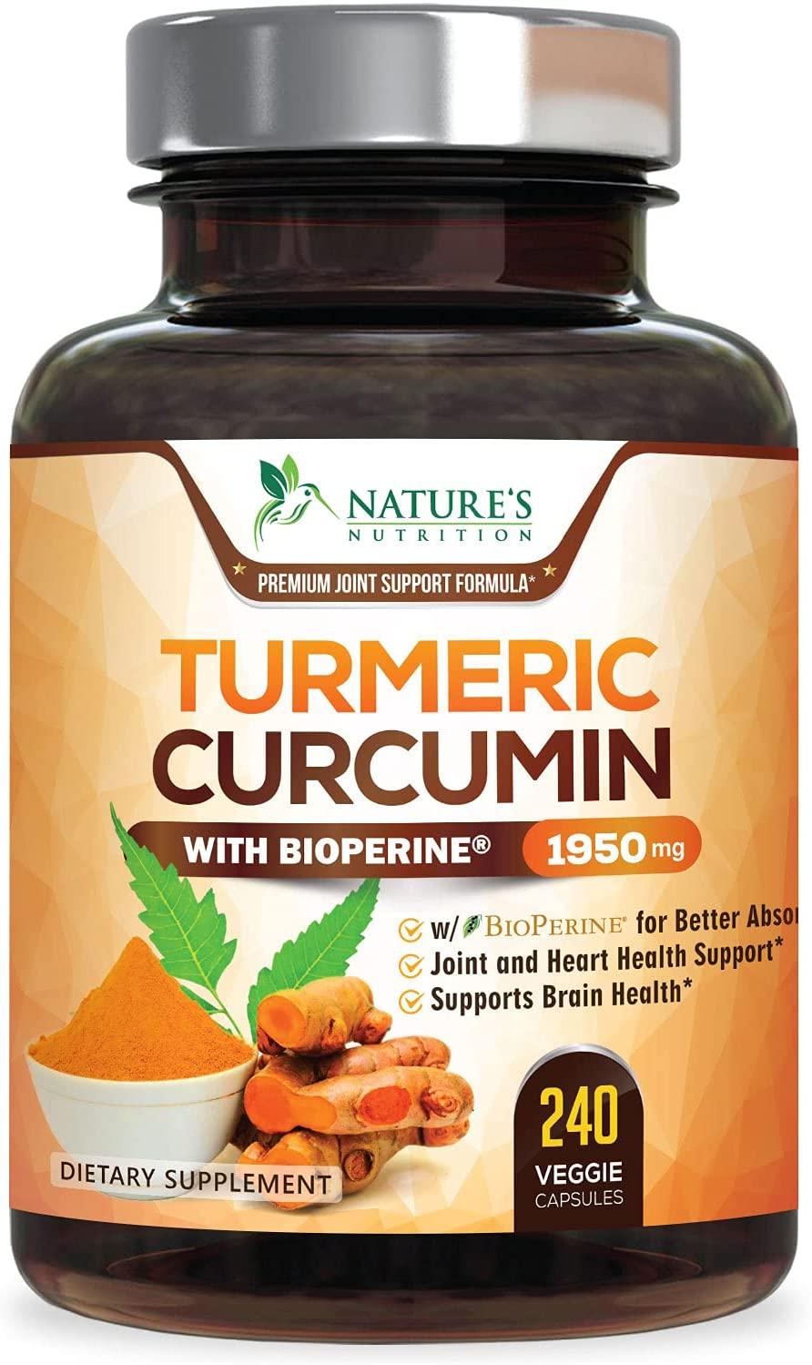 Review of Turmeric Curcumin with BioPerine 95% Curcuminoids 1950mg with Black Pepper
