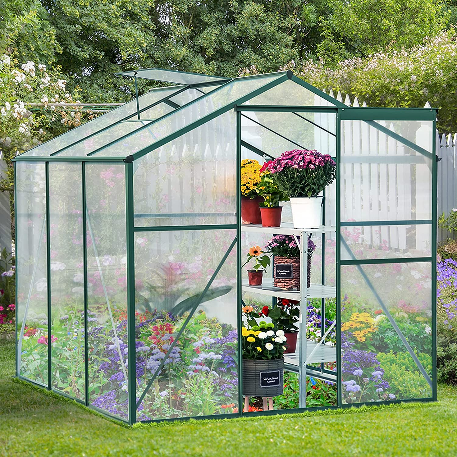 Review of U-MAX Polycarbonate Outdoor Greenhouse 6'(L) x6'(W) x6.6'(H)