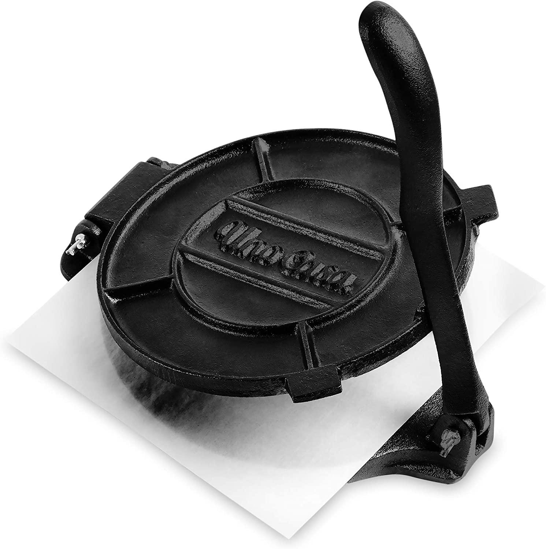 Review of Uno Casa Cast Iron Tortilla Press - 8 Inch, Pre-Seasoned Tortilla Maker
