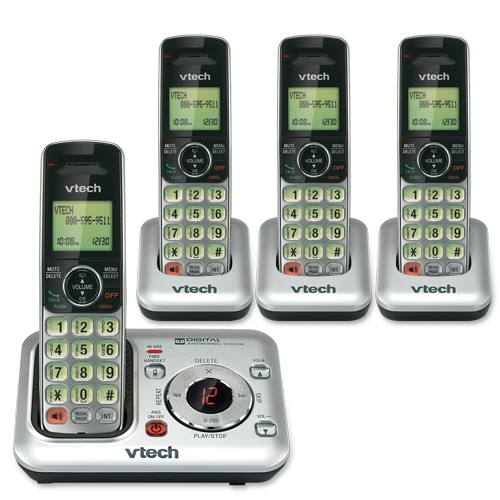 VTech CS6429-4 DECT 6.0 Cordless Phone, Silver/Black - Reviews of Top 10 Power and Hand Tools - Do-It-YourSelf!