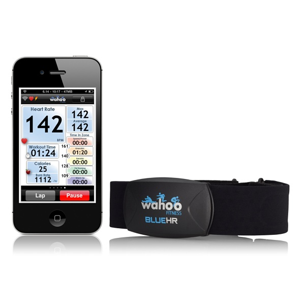 Wahoo Fitness Blue HR Heart Rate Strap for iPod/iPhone