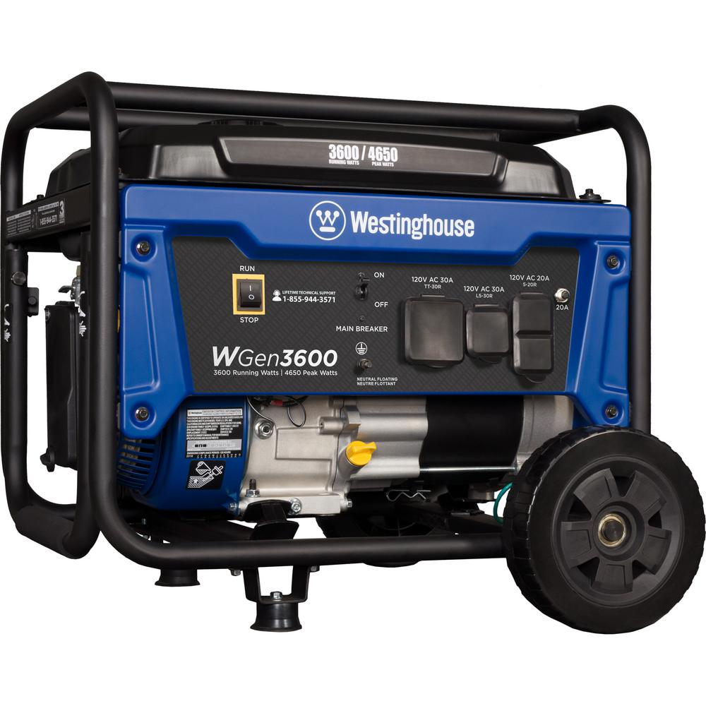 Review of Westinghouse WGen3600 4,650/3,600 Watt Gasoline Powered RV-Ready Portable Generator