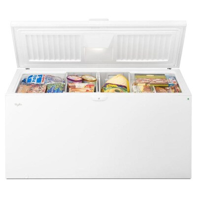 Review of Whirlpool 21.7-cu ft Manual Chest Freezer with Temperature Alarm (White)