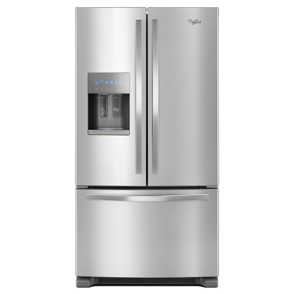 Review of Whirlpool 25 cu. ft. French Door Refrigerator in Fingerprint-Resistant Stainless Steel